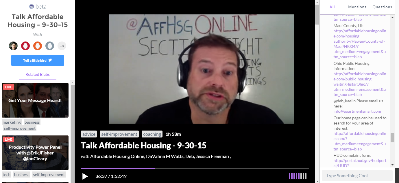 Affordable Housing Talk with Dave Layfield – 10/14/2015