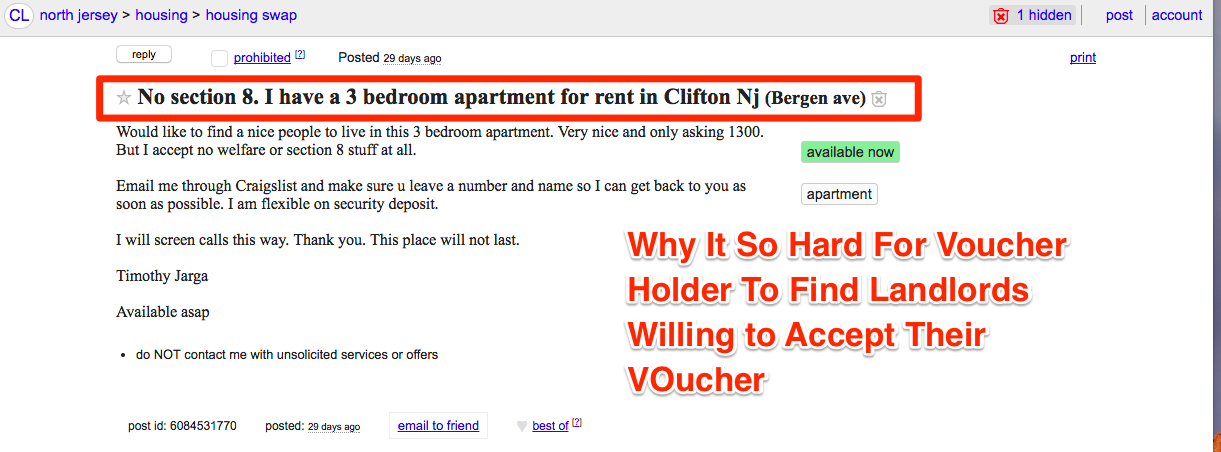 Another Reason Voucher Holders Are Having a Hard Time Finding Landlords Willing to Accept Their Section 8 Voucher