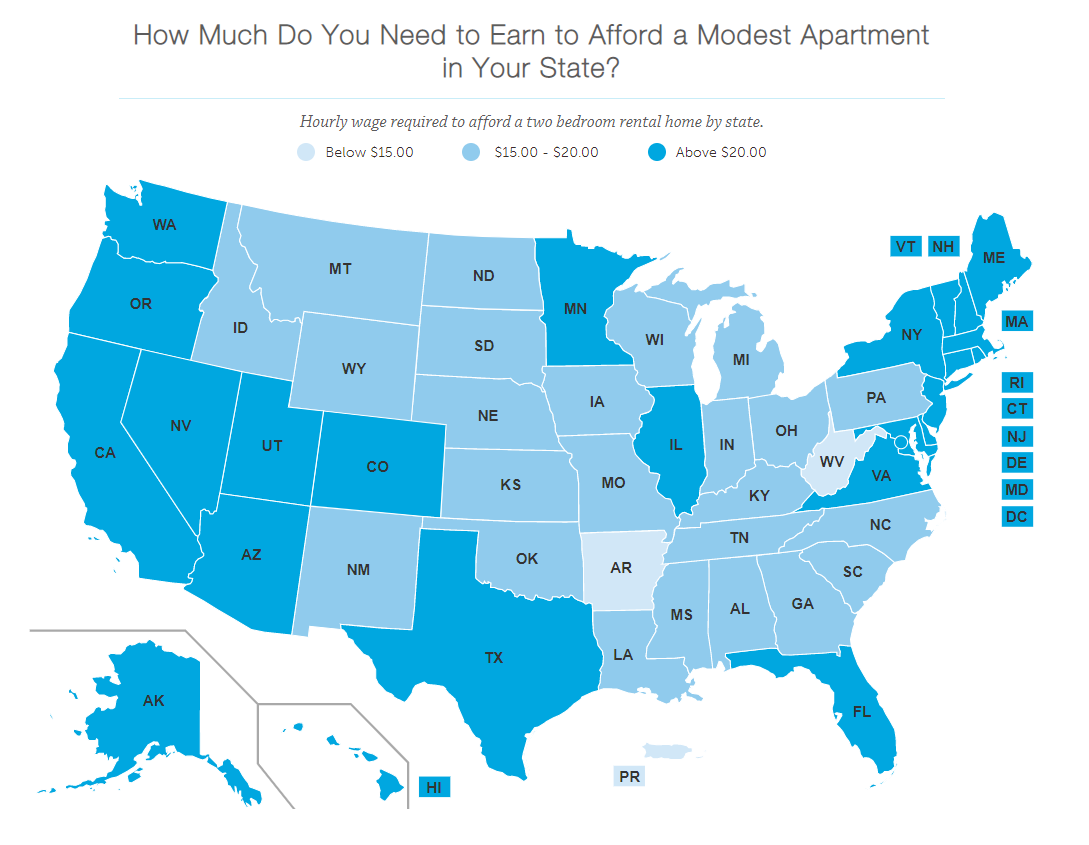 Minimum wage workers in U.S. cannot afford rent